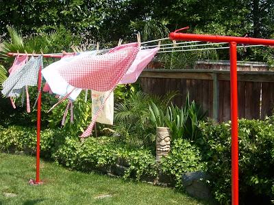 installer un poteau de corde linge ecololinkecololink. Black Bedroom Furniture Sets. Home Design Ideas